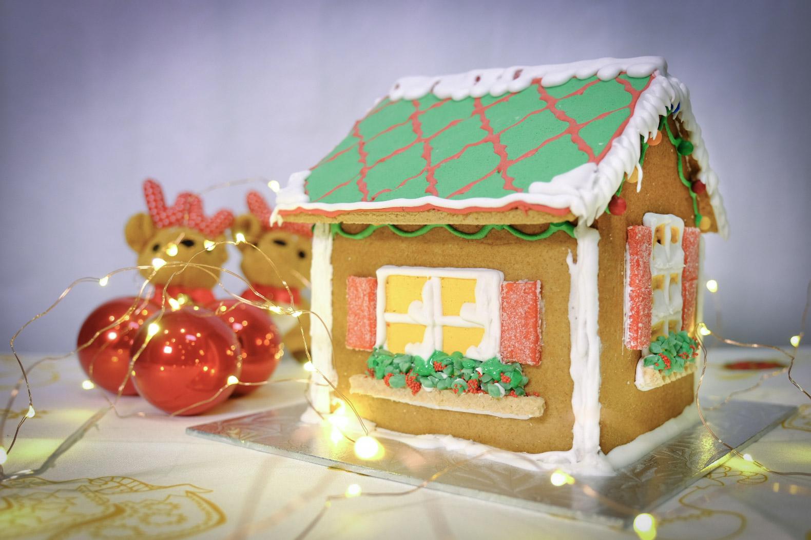 Christmas Gingerbread House Kit.Diy 3d Large Gingerbread House Kit